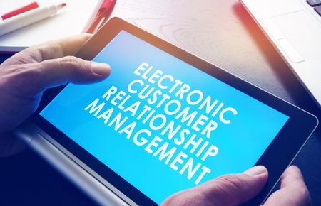ECRM electronic customer relationship management. Stock Photo