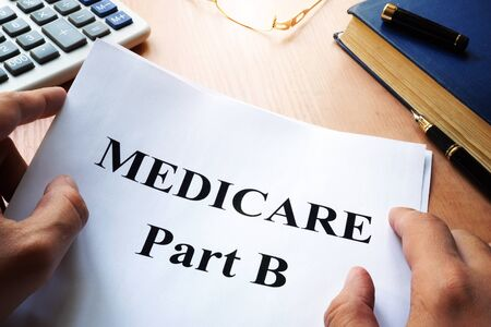 Medicare Part B on a desk. Reklamní fotografie