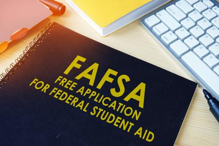 Free Application for Federal Student Aid (FAFSA). Foto de archivo