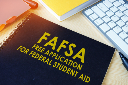 Free Application for Federal Student Aid (FAFSA). Banco de Imagens