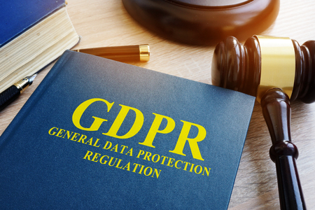 General Data Protection Regulation (GDPR) and gavel. Stock Photo