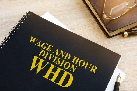 Book with name Wage and Hour Division (WHD).