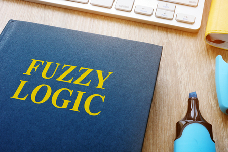 Book about fuzzy logic on a table.