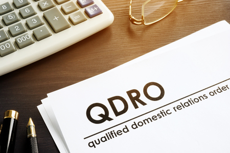 Documents about qualified domestic relations order QDRO. 免版税图像