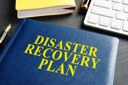 Disaster Recovery Plan on an office table.