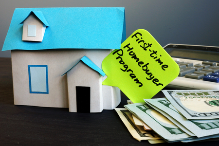 First time homebuyer program and model of house.