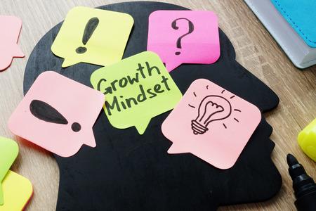 Growth Mindset written on a memo stick.