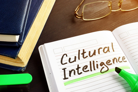 Cultural Intelligence handwritten in a note pad.