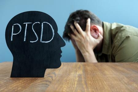 Head shape with PTSD Post traumatic stress disorder.