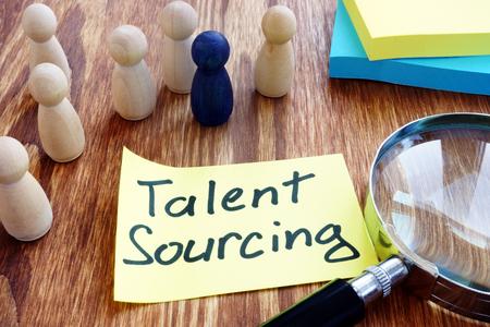 Talent Sourcing written a piece of paper.