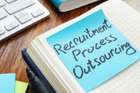 Recruitment process outsourcing RPO written on a piece of paper.