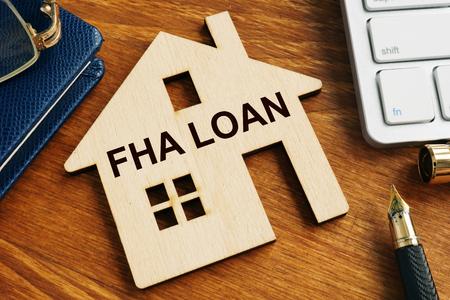 FHA-Darlehen nach dem Vorbild des Hauses.