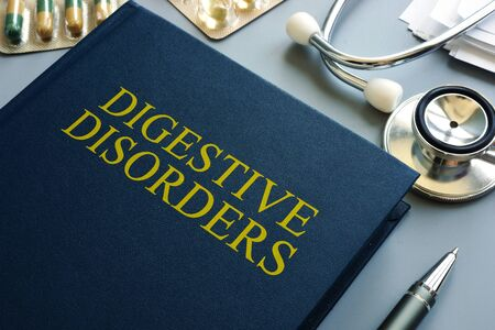 Book about Digestive Disorders and stethoscope.