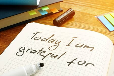Today I am grateful for sign written in a note.