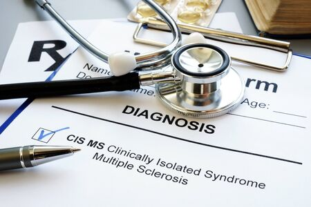 Clinically isolated syndrome multiple sclerosis cis ms diagnosis. 版權商用圖片