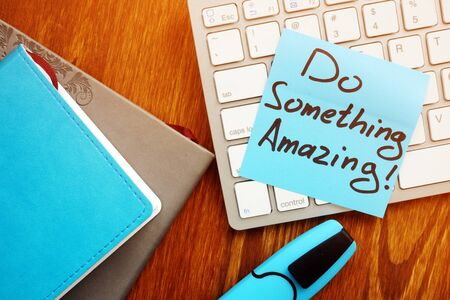 Do something amazing. Motivation and inspirational quote. Banco de Imagens