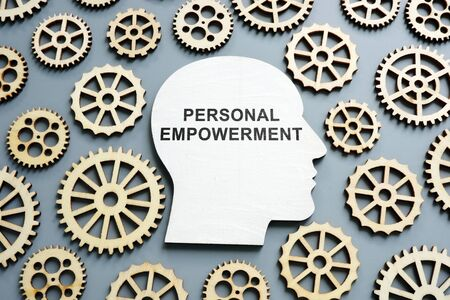 Personal Empowerment written on the head shape. Stock Photo