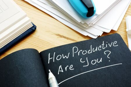 How productive are you question. Productivity concept. 写真素材
