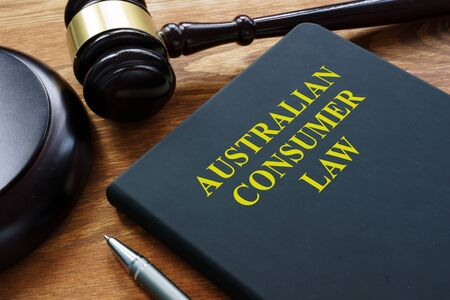Australian consumer law book in the court. Stock Photo