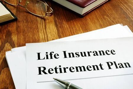 LIRP Life insurance retirement plan and glasses.