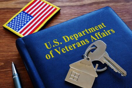 VA loan US Department of Veterans Affairs documents and flag.