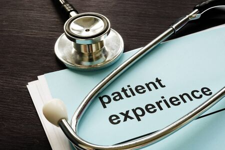 Patient experience report and medical stethoscope.
