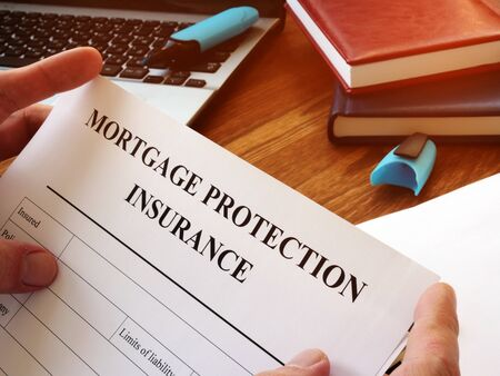 Mortgage protection insurance MPI application form for signing.