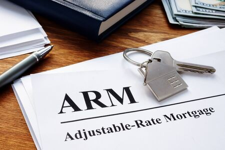 Adjustable Rate Mortgage ARM papers in the office.