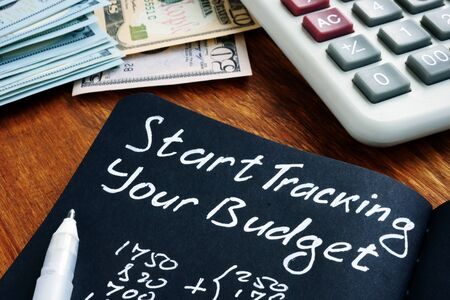 Start tracking your budget sign with home finances calculations.