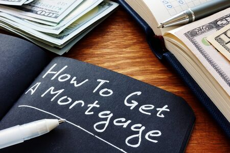How to get a mortgage question written in the note. Zdjęcie Seryjne
