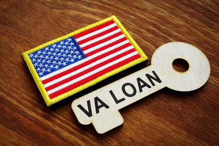 VA loan written on the wooden key. United States Department of Veterans Affairs.