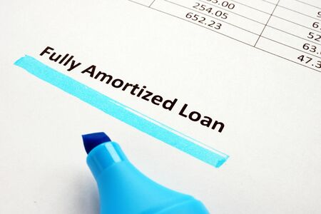 Fully Amortized Loan underlined inscription on the page.