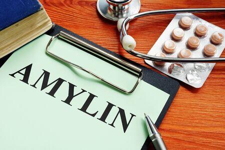 Prescription Amylin or Islet Amyloid Polypeptide IAPP. Reklamní fotografie