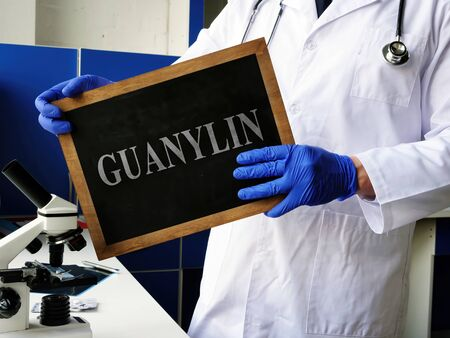 Guanylin GN hormone on the board. Stock fotó