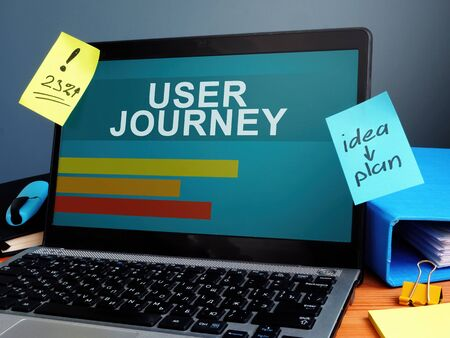User Journey analytics report on the screen.