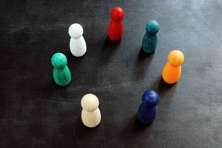 Colorful figures as a concept of diversity. Standard-Bild