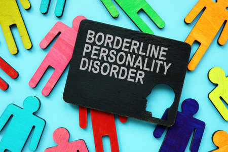 Plate with Borderline Personality Disorder BPD words. Reklamní fotografie