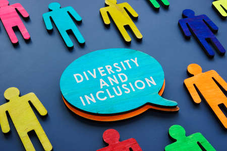 Diversity and inclusion as symbol of colorful figures. Stock Photo