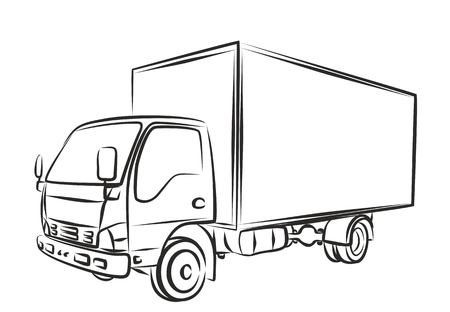 sketch: Sketch of the city truck.