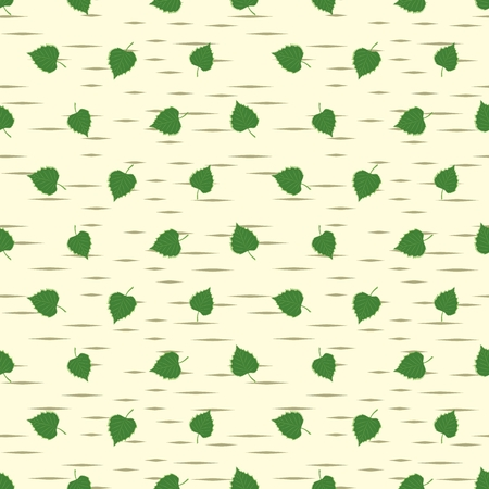 birch bark: A seamless background with birch leaves.