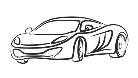 Sketch Of The Sports Car Royalty Free Cliparts Vectors And Stock