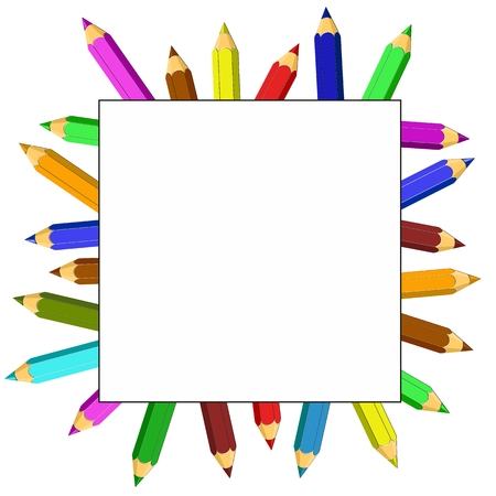 colored pencils: Frame from colored pencils.