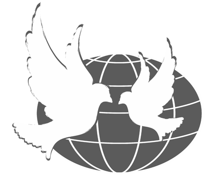wingspan: Logo of a pigeon with globe.