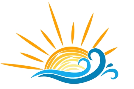 resorts: Logo sun and sea.