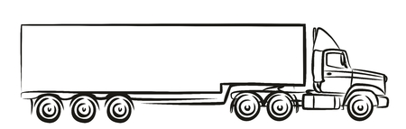Logo of the big truck. Illustration
