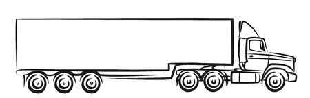 Logo wielkiej ciężarówki.