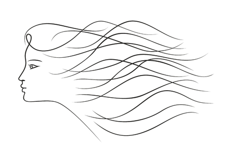hairdress: Girl with long hair.