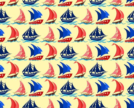 yachts: Seamless background with yachts.