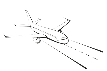 passenger plane: Sketch of the big passenger plane.