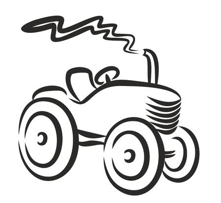 agro: Logo heavy farmer tractor.